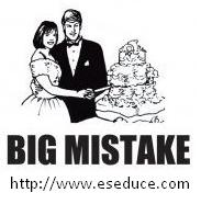 Big Mistake Funny Marriage T-Shirt Busted Tees