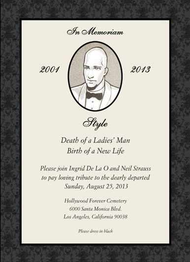 Neil Strauss Bachelor Party Invitation