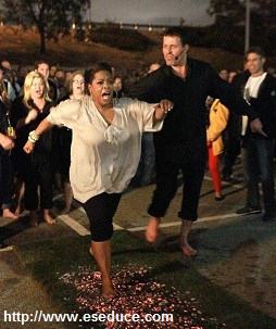 tony robbins oprah winfrey walking hot coals