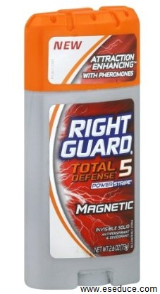 Right Guard Total Defense 5 Deodorant pheromones